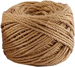 Natural Jute Rope 80 Meters(262 ft) 4mm Hemp Rope for Arts Crafts Gift Wrapping