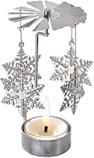 spinning snowflake tealight holder
