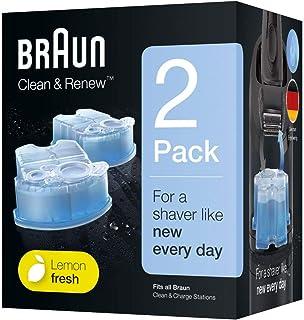 Braun Clean&Renew Cartuchos de recarga para afeitadora eléctrica hombre, 2 unidades, compatibles con todos los centros Sma...