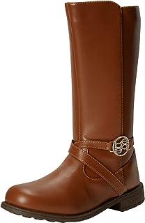 bebe Girl's Boots - Mid-Calf Riding Boots (Little Kid/Big Kid), Size 1, Cognac'