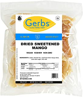 Gerbs Dried Mango, 2 LBS Sweetened & Unsulfured by Gerbs - Top 14 Food Allergy Free & NON GMO - Product of Thailand