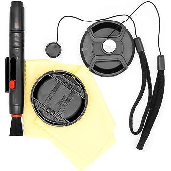 Lens Cap Side Pinch Nwv Direct Microfiber Cleaning Cloth for Sony HDR-PJ30V 37mm + Lens Cap Holder