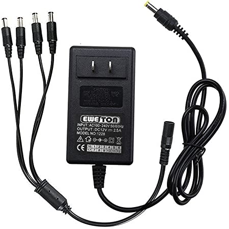 ARyee 12V 5A AC Adapter Charger Power Supply for Security Camera CCTV DVR Surveillance System