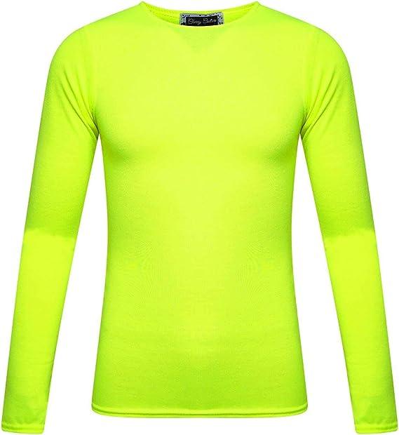 maglietta fluorescente a maniche lunghe FunkyFashion da bambina