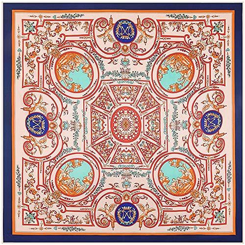 CLSWK Merk Vrouw Vierkante Sjaals Wraps Vintage Geometrische NecKerchief Origineel Ontwerp Etnische Vaas Zijde Hoofd Sjaal