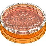 Storz & Bickel Volcano Plastic (Acrylic) 2pc Herb Grinder- Orange 3.5 Inc (90mm)