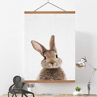 Ywlake Magnetic Poster Hanger, 20x28 20 x 30 20x24 Poster Frame Wood Wooden Magnet Print Posters Dowel Scroll Hanger Hangers Hanging Kit for Walls Map Canvas Artwork (Teak Wood, 20