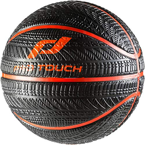 Pro Touch Basketball Asphalt Badminton Ball, Schwarz/Orange, 7