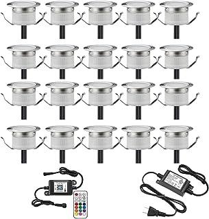 Kit de luces LED para cubierta, 20 unidades de Φ1.22 pulgadas, WiFi, control inalámbrico de teléfono inteligente, bajo vol...