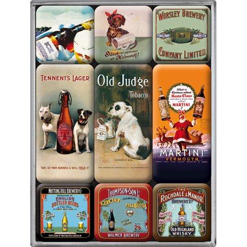 Nostalgic Art Magnet-Set 9-teilig, Bier, Kleine
