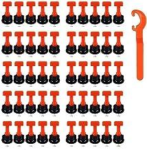 Tegel Levelers Herbruikbaar, 50 stuks tegelnivellering System Kits, tegelafstandhouder voor keramiek, doe-het-zelf gereeds...