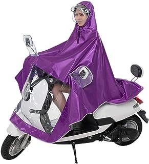 progresivo Extra grande Alargar Universal movilidad Scooter Moto Lluvia Cubierta Jackt Protecci/ón completa con visera seguro Clear Panel Para hombre para mujer Poncho de lluvia Mac