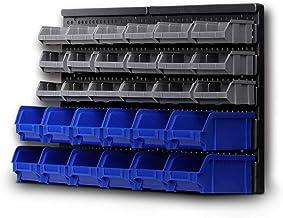 Giantz 30 Bin Wall Mounted Rack Storage Organiser Shed Work Bench Garage