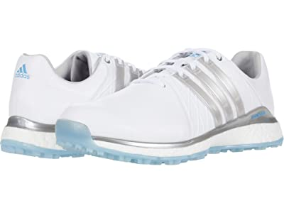 adidas Golf Tour360 XT-SL (White/Silver Metallic/Team Light Blue) Women