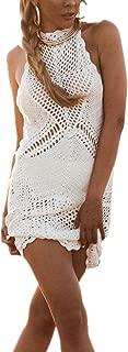 Crochet Vestido de Punto Pareo Bikini Cover Up Beachwear para Mujer