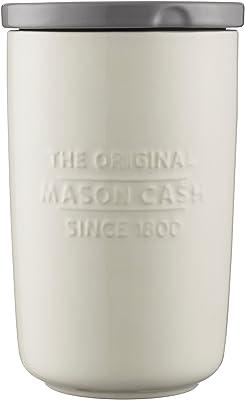 Mason Cash Innovative Kitchen Stoneware Storage Jar, Large, White 28492