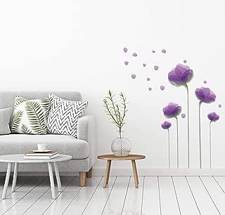 Wall Decals – Wall Décor – Flower Wall Decals – Flower Wall Stickers - Flower Decals – Wall Stickers – Purple Wall Decals – Purple Flower Wall Decals - Purple Flower Stickers