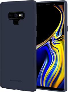 Goospery Soft Feeling Jelly for Samsung Galaxy Note 9 Case (2018) Silky Slim Bumper Cover (Midnight Blue) NT9-SFJEL-MBLU
