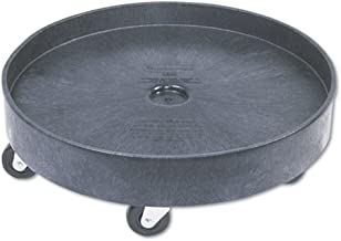 Rubbermaid 2650BLA Brute Container Universal Drum Dolly, 500lb, Black