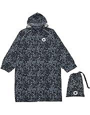小川(Ogawa) キッズレインコート 子供 男の子 女の子 140cm CONVERSE コンバース 迷彩 ブラック ランドセル リュックの上から着れる 調整タック付 リュック型収納袋付 78848