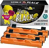 Yellow Yeti TN1050 (1000 Pages) 3 Cartouches Toner compatibles pour Brother HL-1110 HL-1112 DCP-1510 DCP-1512 DCP-1610W DCP-1612W HL-1210W HL-1212W MFC-1810 MFC-1910W [Garantie de 3 Ans]