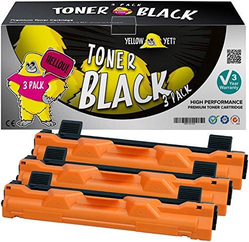 Yellow Yeti TN1050 (1000 pagine) 3 Toner compatibili per Brother HL-1110 HL-1112 DCP-1510 DCP-1512 DCP-1610W DCP-1612W HL-1210W HL-1212W MFC-1810 MFC-1910W
