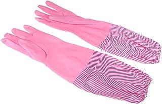 Baosity Strong Rubber Latex Gloves Household Winter Velvet Washing Gloves