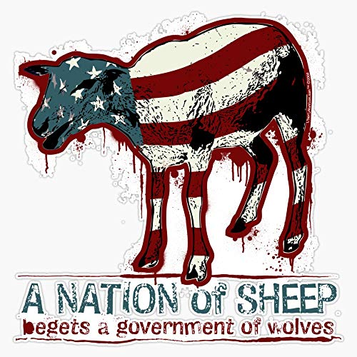 A Nation of Sheep Decal Vinyl Bumper Sticker 5'