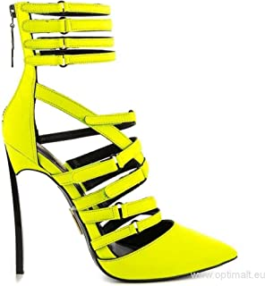 Lust For Life Women's Krown Citron Neon Yellow High Heel Pointed Toe Bootie