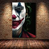 yaoxingfu Sin Marco Joaquin Phoenix Poster Prints Joker Poster Movie Art Lienzo Pintura al óleo Cuadros de Pared para Sala de Estar Decoración para el hogar 50x60cm