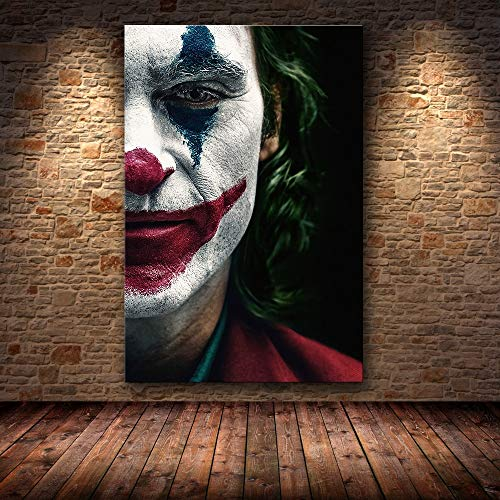 yaoxingfu Sin Marco Joaquin Phoenix Poster Prints Joker Poster Movie Art Lienzo Pintura al óleo