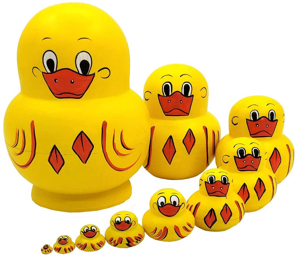 Our shop OFFers the best service Moonmo 10pcs Animal Pattern Russian Nesting Toys Mail order cheap Wooden