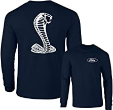 Ford Mustang American Shelby White Snake Long Sleeve T-Shirt F&B