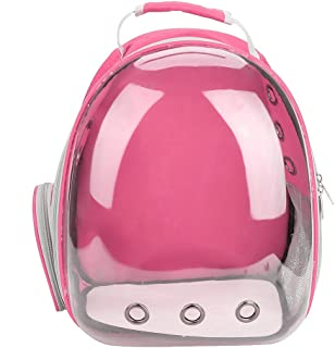 Pet Carrying Bag Cat Portable Backpack Capsule Space Transparent Breathable Cage(Rose Pink)
