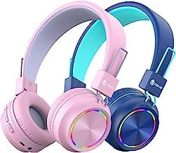 [2 Pack] iClever BTH03 Kids Wireless Headphones -...
