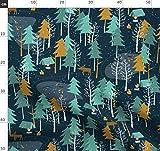 Winter, Elch, Wald, Schnee, Zelten, Holzfäller Stoffe -