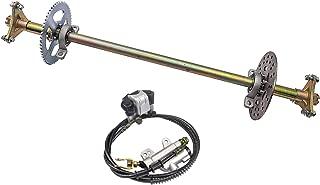 TDPRO Rear Axle Shaft Kit with Brake Master Cylinder Caliper Disc Rotor Assembly for Go Kart Quad Trike Drift Bikes