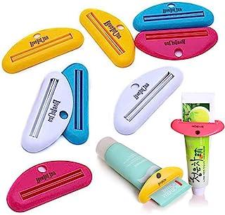 LOVEINUSA Toothpaste Tube Squeezer Dispenser- 4 Pack Random Colors