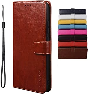 BRAND SET Case for HTC U20 5G Case Wallet Style Faux Leather flip Case with Secure Magnetic Closure Lock and Bracket Funct...