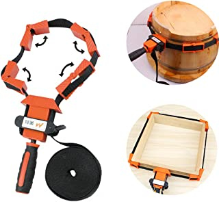 Photo Picture Woodworking Frame Band Strap Clamp Holder Miter Vise Ratchet Angle Corner Clamp Band Tool Clamp Splice for W...