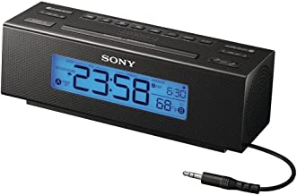 Sony All in One AM/FM Dual Alarm Clock Radio with Soothing Nature Sounds & Large Easy to Read Backlit LCD Display