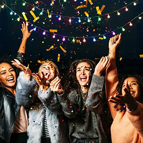 Lepro 100er LED Kugel Lichterkette Bunt 13M, Partybeleuchtung Außen mit Stecker, 8 Modi und Merk Funktion, ideale Partylichterkette für Innen, Hochzeit, Party Deko usw. Mehrfarbig - 8