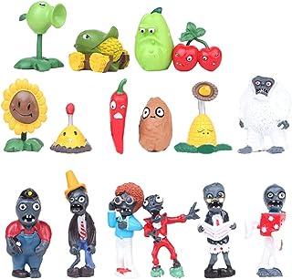 Plants vs. Zombies Estatuilla de juguete Regalo de cumpleaños juguetes populares de la mano Oficina animado juguetes de plástico Figurita juguetes for adultos y niños ( Color : A01 , Size : 3-7cm )