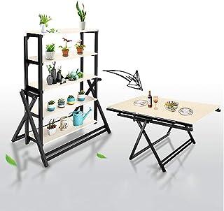 JM Déformation table à manger Stand de fleurs Étagère Carré Multifonction pli Simple moderne multi-niveaux balcon européen...