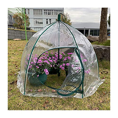 Walk-in Greenhouse, Portable Plant Gardening Greenhouse Zip Entry Door Anti-bird Cover Antifreeze Warm Shed (Color : Clear-2pcs, Size : 105x78cm)