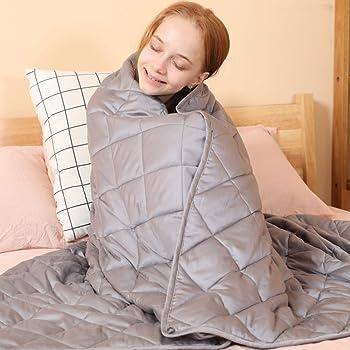 jaymag Manta con Peso para niños 100x150cm 3.5kg para aliviar la ansiedad y los trastornos del sueño 100% algodón con Cuentas de Cristal
