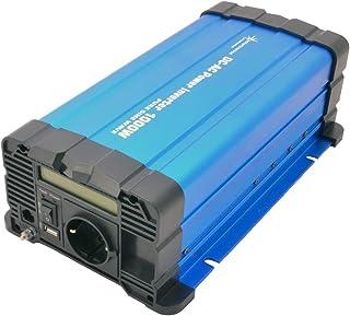 solartronics Spanningsomvormer FS1000D 12V 1000/2000 Watt pure sinus blauw met display FS serie omvormer omvormer