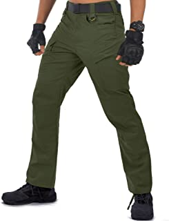 HARD LAND Tactical Pants for Men - Waterproof Lightweight Cargo Work Pants Ripstop Military Hiking BDU Pants Od Green Size...