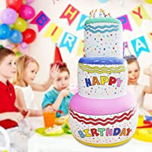 Wonderful ltd. Jumbo Inflatable Birthday Cake with Candles, Extra Large Birthday Party Decoration 6 Feet