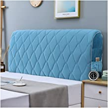 Headboard Cover Queen Bed Headboard Slipcover Protector with Stretch Side and Pocket Dustproof Cotton Cover for Twin Full ...